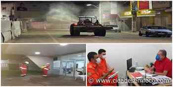 Pulverização das ruas de Picos segue intensa com auxílio do Corpo de Bombeiro - Cidades em Foco