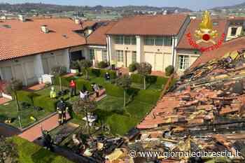 Brucia villetta a schiera a Adro, famiglia evacuata - Giornale di Brescia
