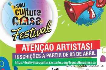 Rio das Ostras inicia inscrições para festival virtual aos artistas da cidade - Clique Diário