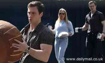 Aaron Taylor-Johnson and his filmmaker wife Sam Taylor-Johnson step out to run errands - Daily Mail