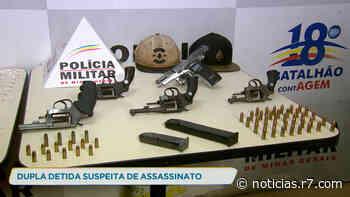 Dupla é detida suspeita de assassinato em Contagem (MG) - R7