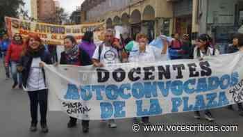 Desastre: la Policía reprimió a los docentes en el Grand Bourg - Voces Críticas