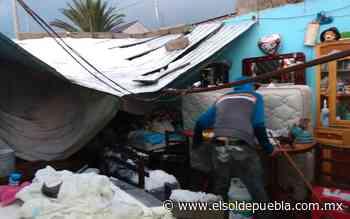 Granizada afecta 70 viviendas en Acajete - El Sol de Puebla