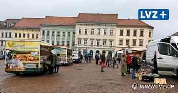 Handel in der Corona-Krise - Nach Zwangspause wieder Frischemarkt in Oschatz - Leipziger Volkszeitung