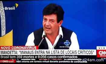 'Manaus entra na lista de locais críticos', diz Mandetta - D24am.com
