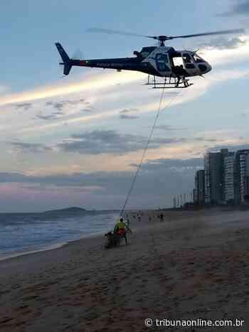 Helicóptero resgata pescadores no mar de Itaparica - Tribuna Online