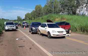 Engavetamento envolvendo quatro veículos deixa oito feridos na BR-316, em Bacabal - Jornal Pequeno