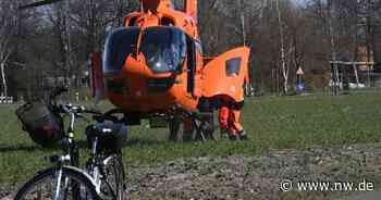 Auto rammt 82-jährigen Radfahrer in Rietberg - Rettungshubschrauber im Einsatz - Neue Westfälische