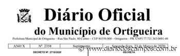 Diário dos Campos | Prefeitura de Ortigueira decreta fechamento do comércio - Diário dos Campos