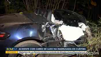 Motorista foge após bater Porsche em muro em Curitiba - G1