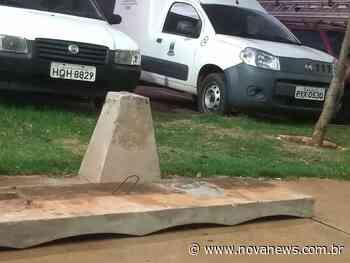 Em Nova Andradina, Vândalos destroem bancos de concreto na Praça das Águas - Nova News