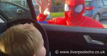 JLR worker becomes Spider-Man to cheer up kids in self isolation