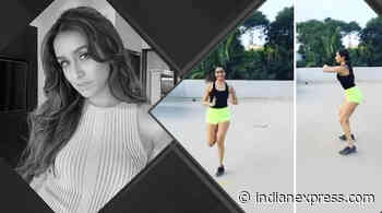 Take cues from Shraddha Kapoor on how to exercise on the terrace; watch video - The Indian Express