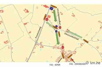 Werken aan provincieweg weer opgestart in Langemark-Poelkapelle - Krant van Westvlaanderen