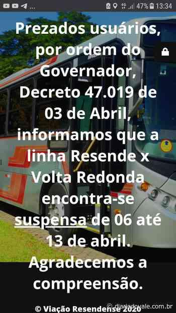 Ônibus de Volta Redonda para Resende serão suspensos - Diario do Vale
