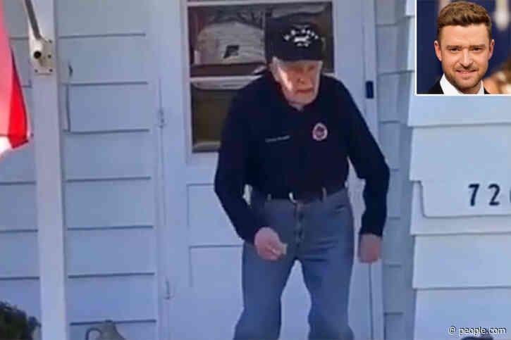 WWII Vet Dances to Justin Timberlake's 'Can't Stop the Feeling!' and the Pop Star Approves