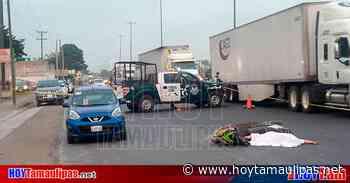 Muere mujer al impactarse contra un taxi en Pánuco - Hoy Tamaulipas
