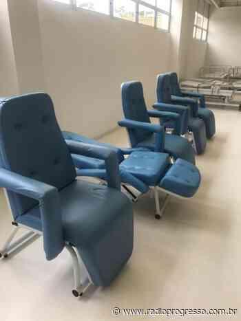 Hospital Regional de Santa Maria começa a ser equipado para combate à Covid-19 - Rádio Progresso de Ijuí