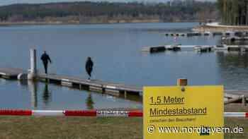 Absperrband und leere Bänke: So verändert Corona den Rothsee - Nordbayern.de