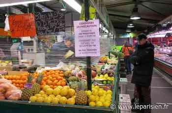 À Montgeron, jauge limitée et gestes barrière pour la réouverture du marché - Le Parisien