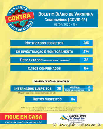 Boletim epidemiológico confirma o quarto caso de coronavírus em Varginha - Varginha Online