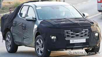 Picape da Hyundai é flagrada com menos camuflagem - Carros