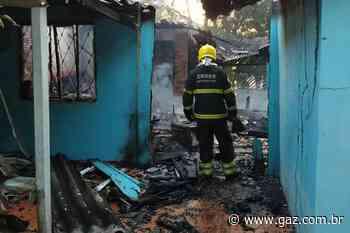 Incêndio destrói residência no Corredor Zanette em Santa Cruz - GAZ