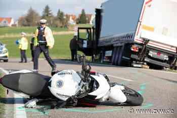 Motorrad kollidiert mit Lkw - Zeitungsverlag Waiblingen