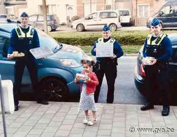 Geen groot verjaardagsfeest? Dan schenkt Amirah (4) traktatie aan politie en zorgverleners - Gazet van Antwerpen