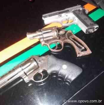 Polícia apreende armas de fogo e efetua prisão em Aquiraz - O POVO