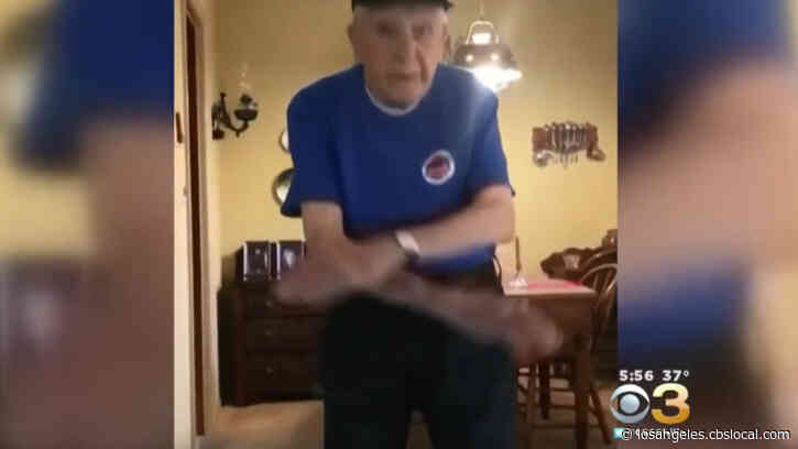 'I Like To Dance': 97-Year-Old World War II Vet Steps Out To Boogie During Coronavirus Lockdown