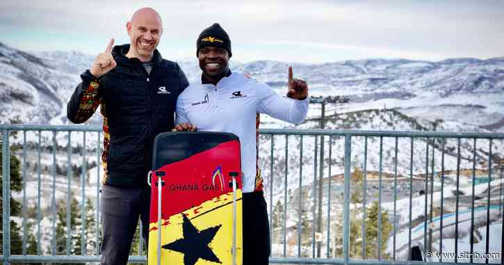 Ghana's Akwasi Frimpong is the first African to win a skeleton race. Next up for the Utah Valley grad: Qualifying for the Olympics.