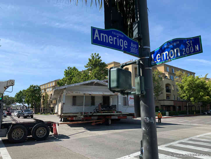 Two decades-old homes are moved in Fullerton