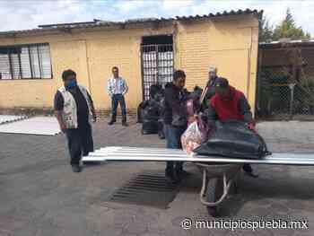 Apoya Segob a 41 familias afectadas por granizada en Acajete - Municipios Puebla
