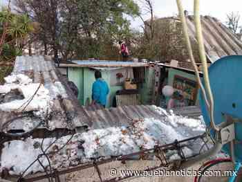 Afectadas 70 viviendas por granizadas en Acajete - Puebla Noticias