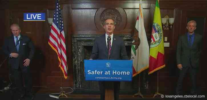 Garcetti: Non-Medical Essential Workers, Customers Required To Wear Face Coverings