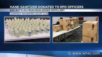 Iron Smoke Distillery, Rochester Midland Corporation provide RPD with hand sanitizer