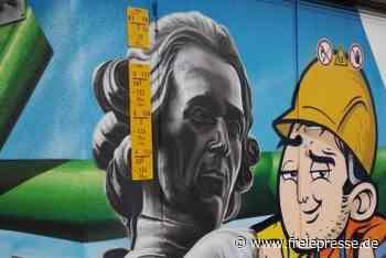 Graffiti ziert Stromkasten in Hainichen - Freie Presse