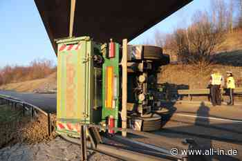 Unfall: LKW-Anhänger kippt auf der B19 bei Waltenhofen um - Fahrbahn für etwa vier Stunden gesperrt - Walten - all-in.de - Das Allgäu Online!