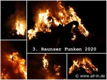 FUNKENFEUER - BILDERGALERIE: 3. Raunser Funken 2020 - ein voller Erfolg - Waltenhofen - all-in.de - Das Allgäu Online!