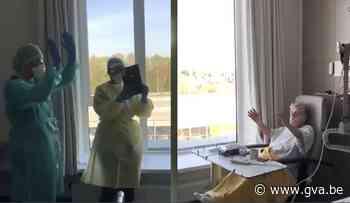 Verzorgend personeel op corona-afdeling zingt voor jarige Irma (90) - Gazet van Antwerpen