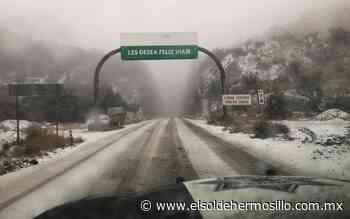 Por caída de nieve, GN cierra carretera Janos-Agua Prieta - El Sol de Hermosillo