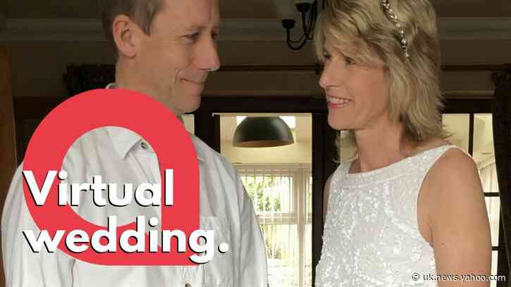 Couple hold a virtual wedding ceremony