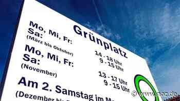 Grünplätze auch in Bramsche wieder geöffnet - Neue Osnabrücker Zeitung