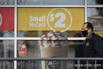 McDonald's global same-store sales down 22% in March as coronavirus pandemic shuts dining areas - CNBC