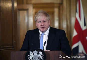 UK's Boris Johnson still in intensive care with coronavirus, but condition 'improving' - CNBC