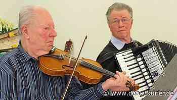 Altmannstein: Musikalisches Egoismus-Fasten - Otto Grams und Georg Lang spielen ehrenamtlich für Senioren mit ihren Instrumenten - donaukurier.de