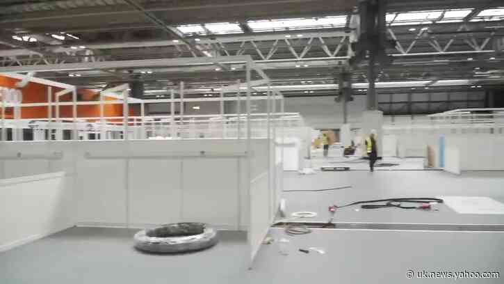 Timelapse Shows Construction of Temporary Coronavirus Hospital in Birmingham, England