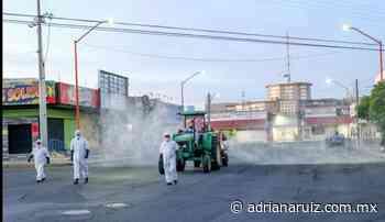 #Delicias   Sanitizan calles de la ciudad para prevenir casos de Covid-19 - Adriana Ruiz