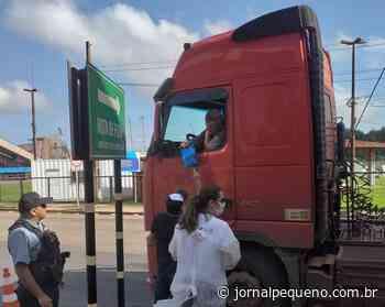 Porto do Itaqui realiza ação de prevenção aos caminhoneiros contra Covid-19 - Jornal Pequeno
